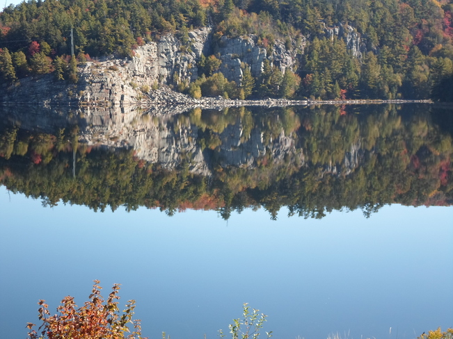 Stunning Reflections of Lake Horne Elliot Lake, Ontario Canada