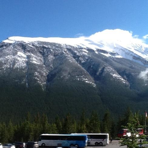 Snow cover Canmore, Alberta Canada