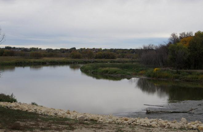 Fall along the riverbank Brandon, Manitoba Canada