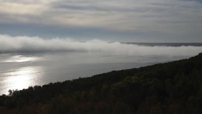 fog Shellmouth, Manitoba Canada