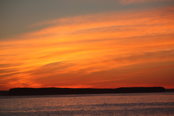 Sunset over Conception bay