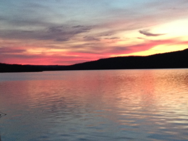 Beautiful evening at Lady Lake Harbour Grace, Newfoundland and Labrador Canada