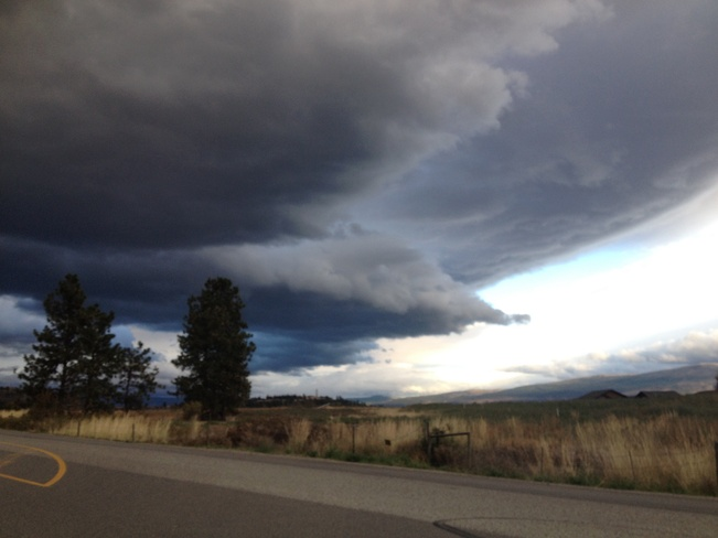 ominous weather front Westbank, British Columbia Canada