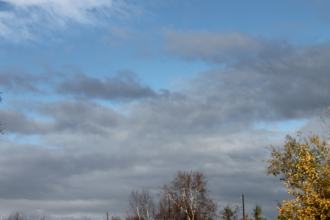 Grey skys are going to clear up Capreol, Ontario Canada