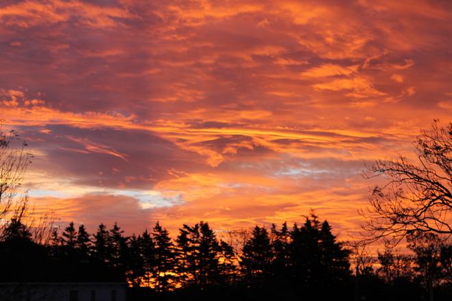 sun rise Yarmouth, Nova Scotia Canada
