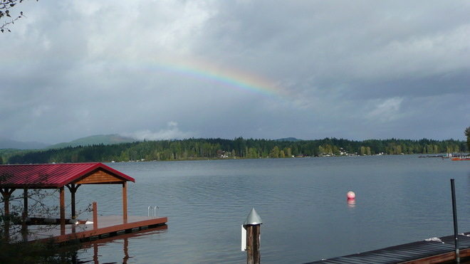 Calm before the storm Shawnigan Lake, British Columbia Canada