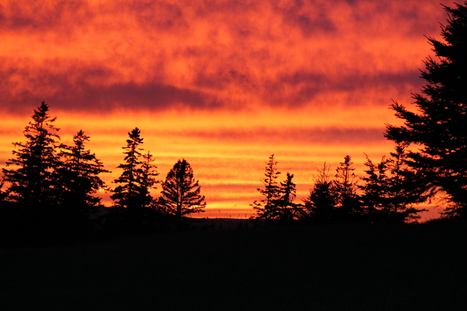 Red sky at night Sailers Delight Pictou, Nova Scotia Canada