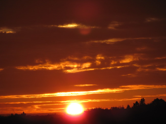 And in the West a Beautiful Sunset Amherst, Nova Scotia Canada