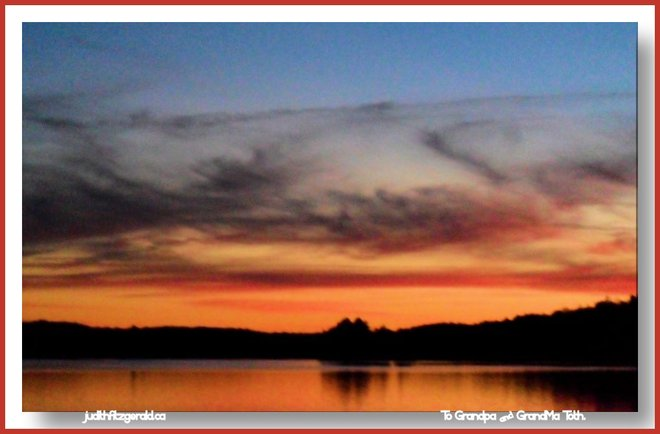 Sky's on Fire over Wilson Lake Harbour Port Loring, Ontario Canada
