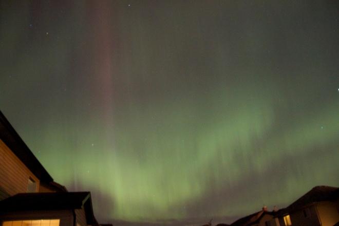 Aurora Borealis over Calgary Calgary, Alberta Canada