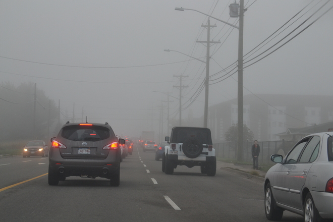 Moncton foggy morning commute Moncton, New Brunswick Canada