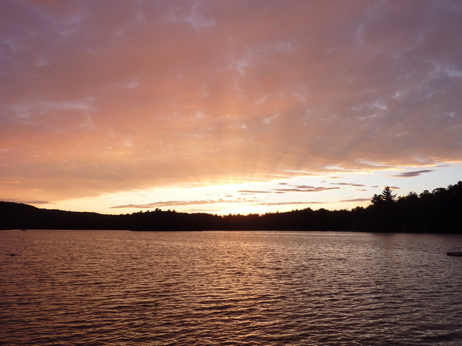Evening Sunset Over The Lake Harcourt, Ontario Canada