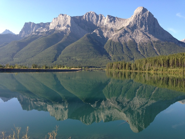 The view from my morning bike ride. Canmore, Alberta Canada