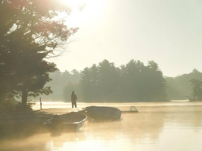 early morning Orillia, Ontario Canada