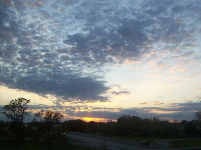 Lovely sunset with Clouds on a Beautiful 3rd of October evening Belleville, Ontario Canada