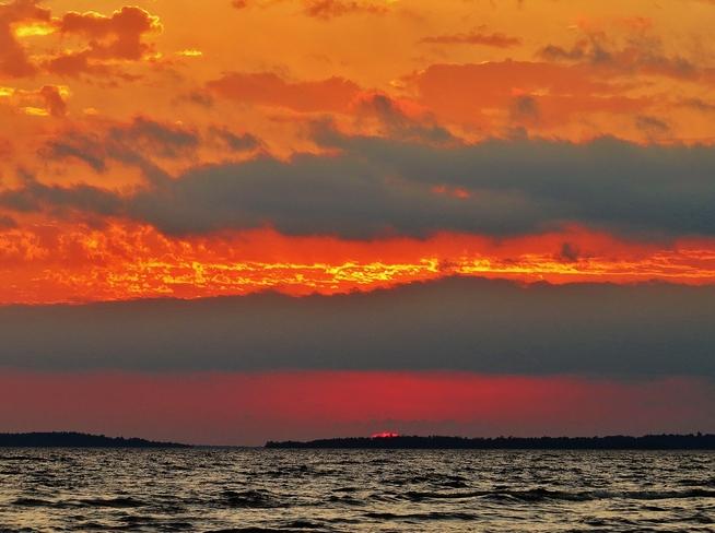 Sunset a la rain clouds. North Bay, Ontario Canada