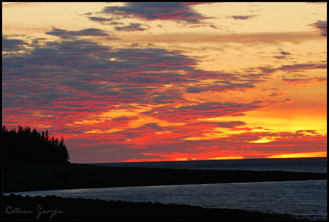 The Last Beautiful Colours of the Day Centreville, Nova Scotia Canada