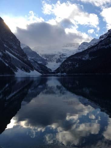 Snowy Reflection Banff, Alberta Canada