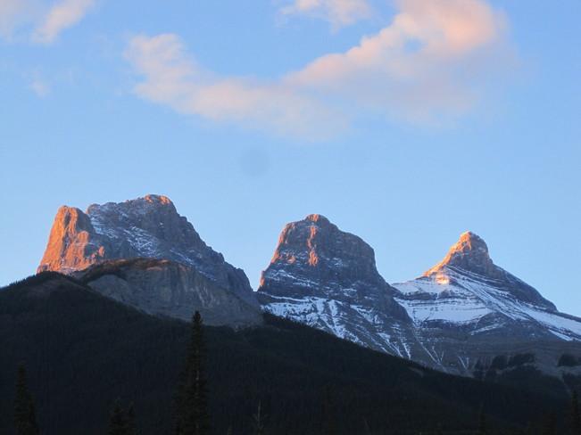 Three Sisters Sunrise Canmore, Alberta Canada