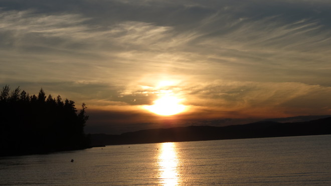 Sunset on Canim Lake Forest Grove, British Columbia Canada