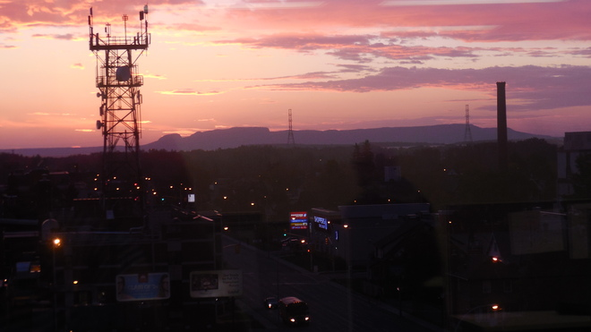 Sunrise view from work Thunder Bay, Ontario Canada