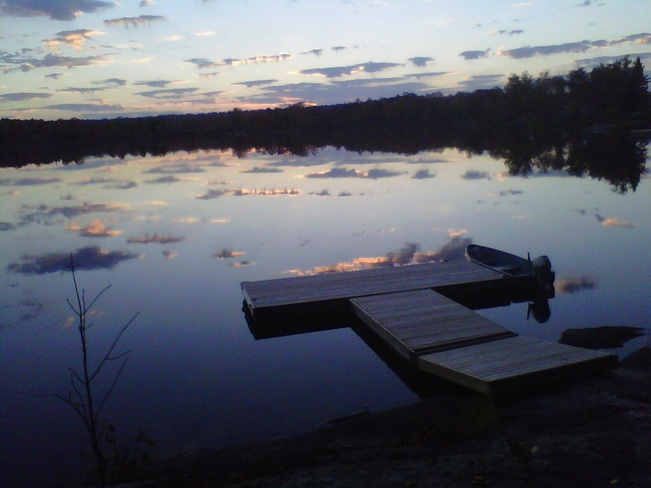 Sunset on Mutton Lake Parry Sound, Ontario Canada