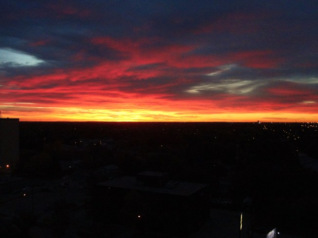 Sunrise over Winnipeg Winnipeg, Manitoba Canada