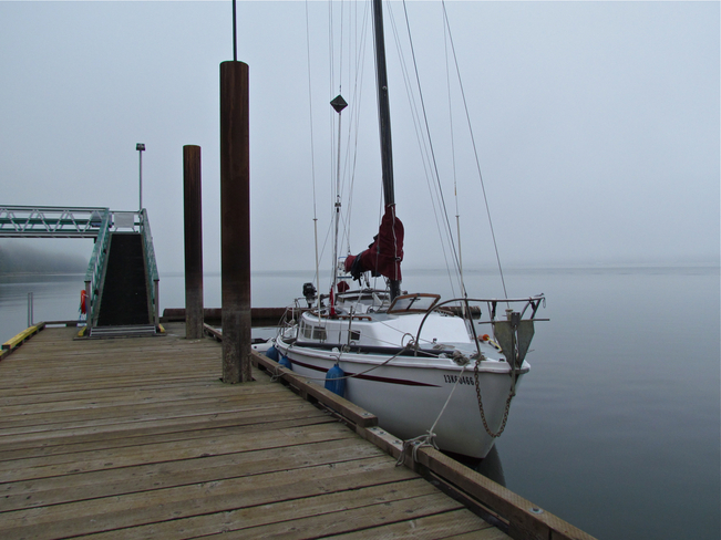 Docked on foggy day Abbotsford, British Columbia Canada