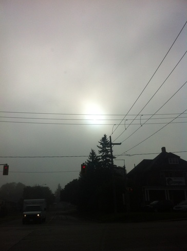 sun trying to come out Barrie, Ontario Canada