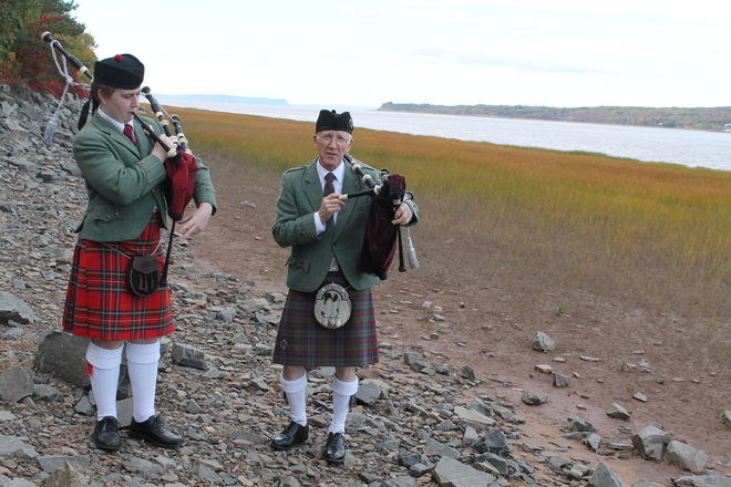 Minas Basin Bag Pipes Hantsport, Nova Scotia Canada