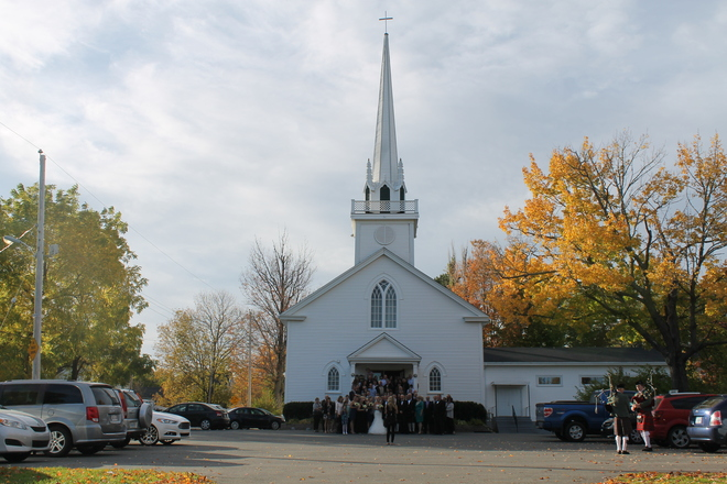 Fall Wedding Church Day with The Pipes Hantsport, Nova Scotia Canada