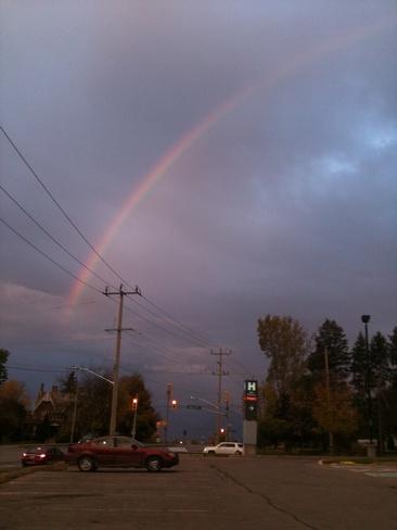 vivid rainbow Lindsay, Ontario Canada