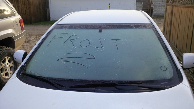Early morning frost Brandon, Manitoba Canada