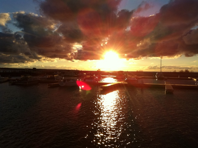 sunset by the harbour Port Elgin, Ontario Canada