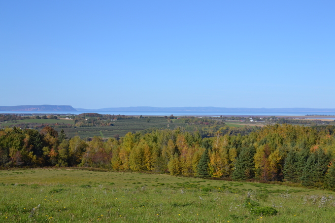 View of the Annapolis Valley Wolfville, Nova Scotia Canada