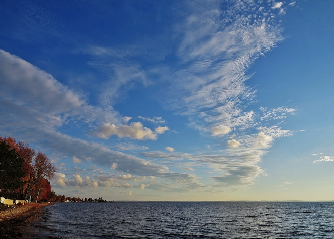 Beautiful sky this Thanksgiving Sunday. North Bay, Ontario Canada