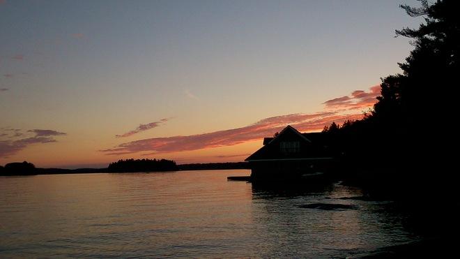 Sun setting Minett, Ontario Canada