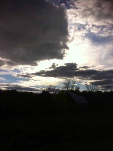 passing clouds Washago, Ontario Canada