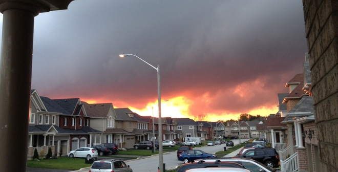 Sky is on fire... Bowmanville, Ontario Canada