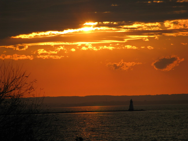 Sunset Lighthouse St. Catharines, Ontario Canada