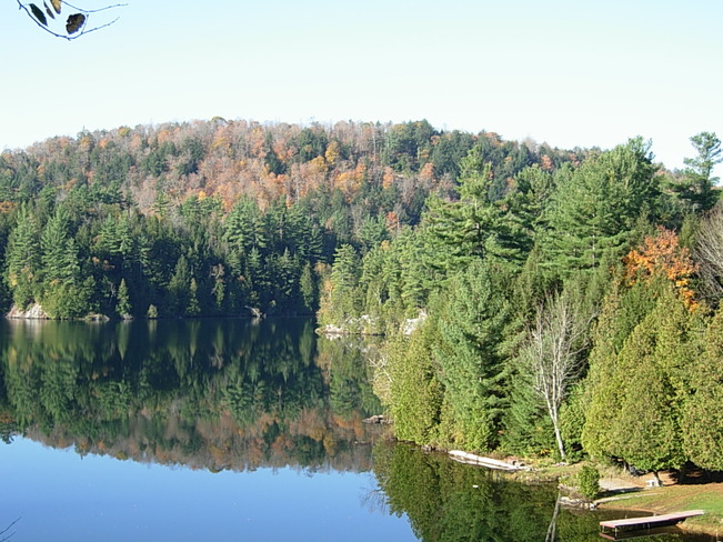 Beautiful Fall day Lac-Vert, Quebec Canada