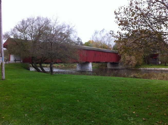 covered bridge Woolwich, Ontario Canada