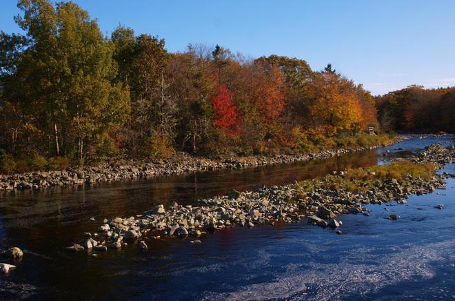 Tusket River in the Sunshine Tusket, Nova Scotia Canada