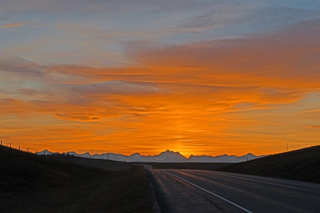 Sunset Leaving the Rockies Lethbridge County No. 26, Alberta Canada