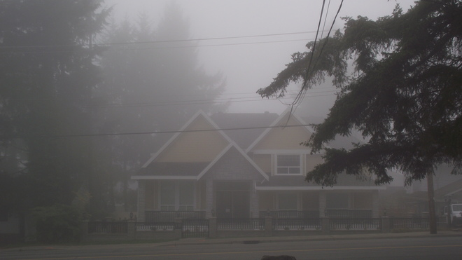 Foggy day Coquitlam, British Columbia Canada