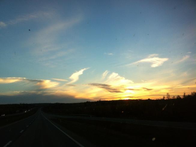 sunset Westville, Nova Scotia Canada