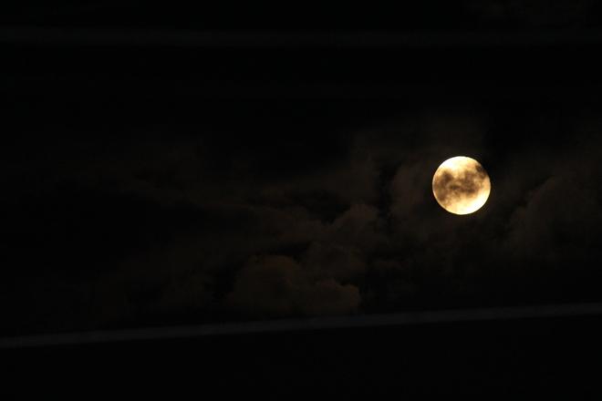 harvest moon New Waterford, Nova Scotia Canada