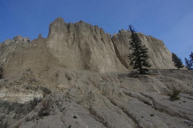 rocks Radium Hot Springs, British Columbia Canada