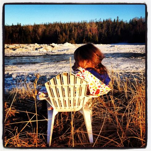 Watching the Ice Show Heron Bay, Ontario Canada