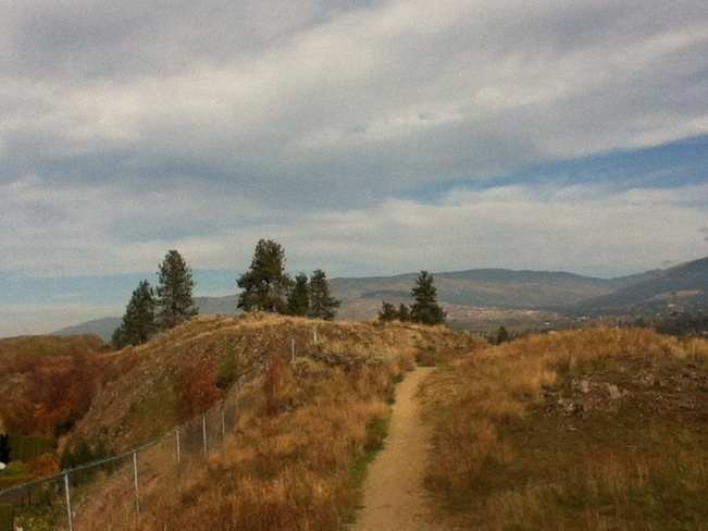 hike up cactus hill South Vernon, British Columbia Canada